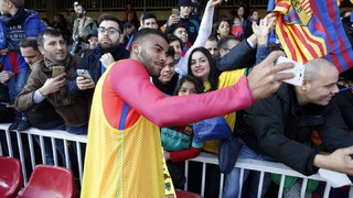 Thousands turn out at the Miniestadi for FC Barcelona's open training session