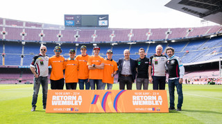 Moto GP riders visit Camp Nou ahead of Wembley25 event