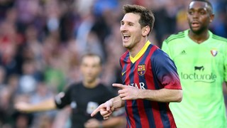 Los goles de Leo Messi ante Osasuna en el Camp Nou en la Liga