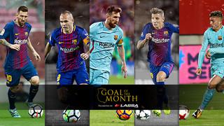 Decideix quin d'aquests 5 gols ha estat el millor del mes