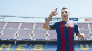 Highlights of Lucas Digne's first day at FC Barcelona