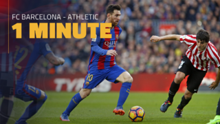 FC Barcelona 3 - Athletic Club 0 (1 minuto)
