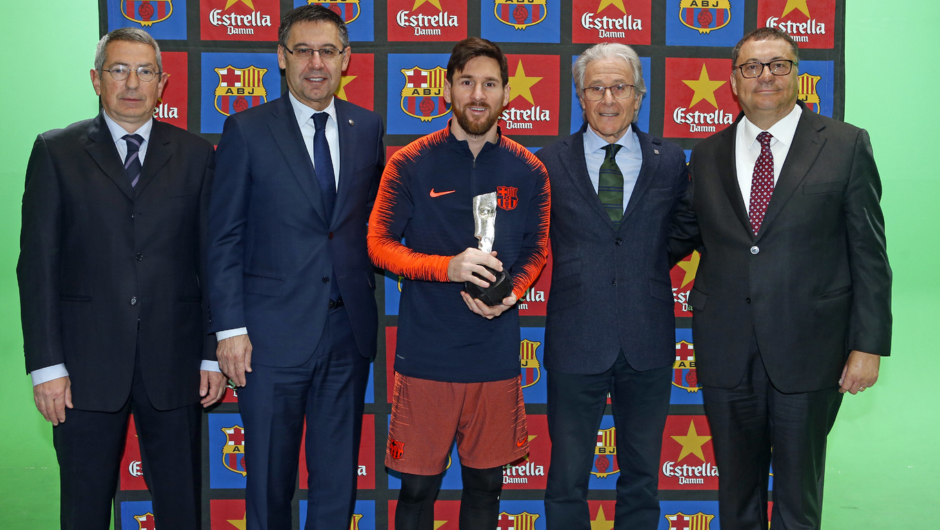 The Argentinian was chosen by the Barça Players Association for his conduct on and off the field