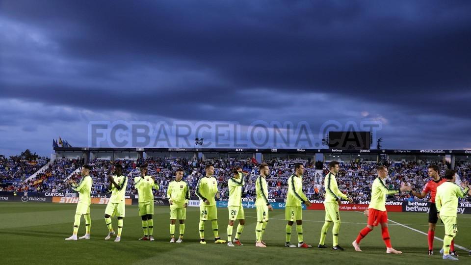 صور مباراة : ليغانيس - برشلونة 2-1 ( 26-09-2018 ) 99848459