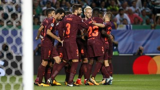 Sporting CP 0 - FC Barcelona 1 (1 minute)
