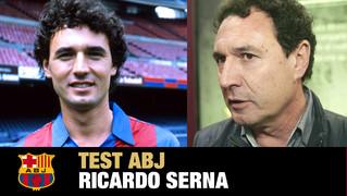 Ricardo Serna se sotmet al Test ABJ per recordar la seva etapa com a jugador del Barça