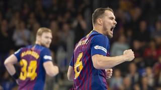 Barça Lassa – HC Vardar: Cop d'efecte del líder (34-26)