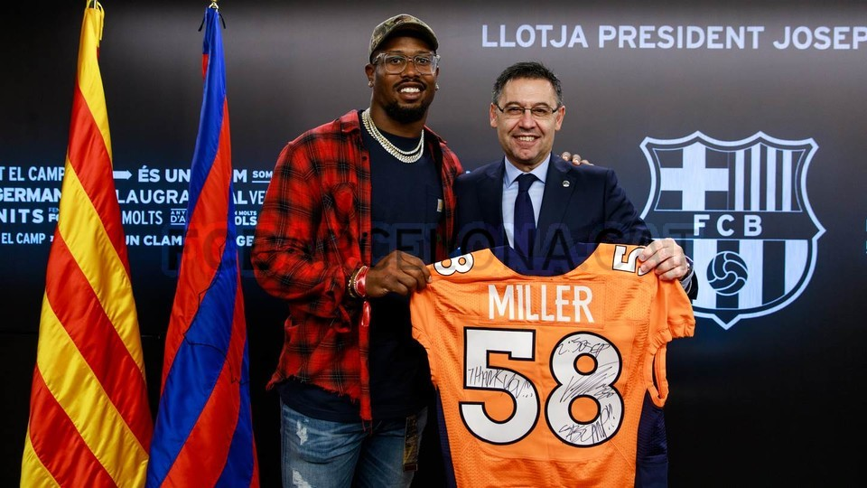 Denver Broncos Von Miller Headlines Nfl Player Visit For