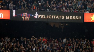 Barça fans from far and wide have used their visit to the Camp Nou to celebrate Lionel Messi's special day