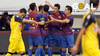GOAL MORNING!!! David Villa vs Club América #BarçaUSTour