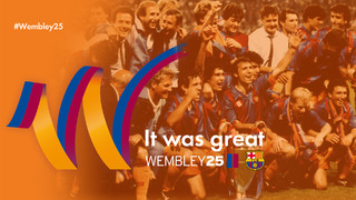 Highlights of the events to commemorate Wembley 25