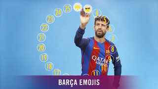 The central defender assigns a different emoji to each of his cohorts