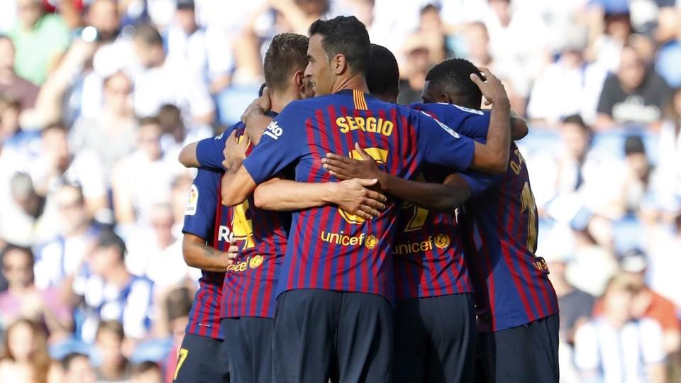 ريال سوسييداد - برشلونة : سواريز وديمبيلي يقودان الريمونتادا في أنويتا (1-2) 98523510