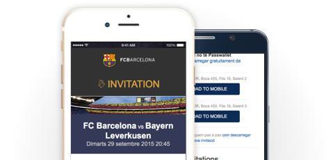 Las entradas se abren en el App