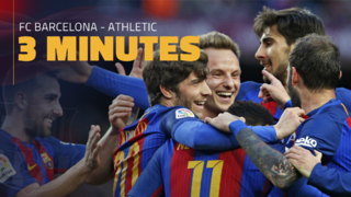 FC Barcelona 3 - Athletic Club 0 (3 minutos)