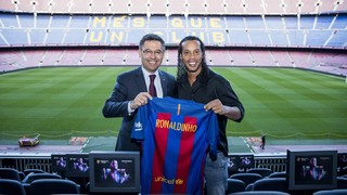 Ronaldinho is now the new FC Barcelona ambassador
