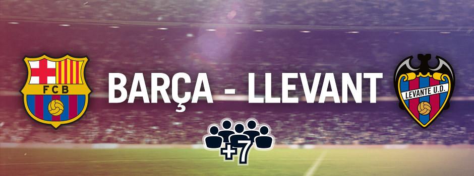 Entrades oficials per a grups Barça VS Llevant