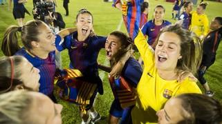 La celebració de les campiones de la Copa de la Reina