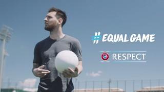 El crac argentí ha format part d'un vídeo que promocionarà positivament la inclusió, la diversitat i l'accessibilitat en el futbol de tota Europa