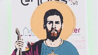 Lionel Messi, 'santificat' als carrers de Barcelona