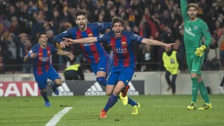 Sergi Roberto repasa el 6-1 ante el PSG:
