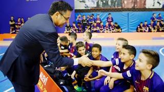 """Bartomeu: """"És un acte que li devíem des de fa molts anys a tots aquests joves esportistes que formen part de la Masia i mai havíem fet un acte conjunt"""