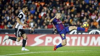 El gol de Jordi Alba en Mestalla, desde todos los ángulos