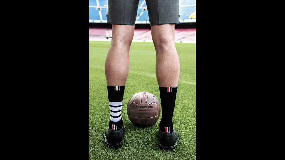 Thom Browne,FC Barcelona's new Formal Wear sponsor.
