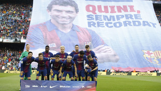 El último adiós del FC Barcelona a Enrique Castro 'Quini'