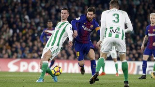 The Barça number 10 put in a sublime performance in the second half at the Benito Villamarín, scoring twice and creating another