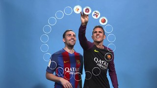 Barça emojis: Paco Alcácer i Jordi Masip