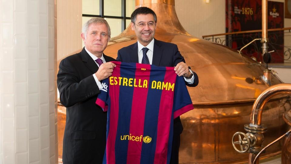 Estrella Damm, patrocinador global de Barcelona