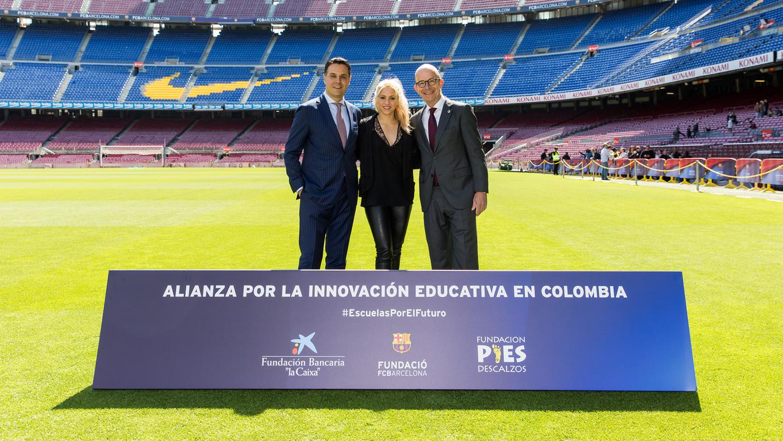 """Este proyecto se enmarca en el vínculo de colaboración que la Fundación Bancaria """"la Caixa"""" y la Fundación FC Barcelona mantienen desde hace ocho años por una promoción educativa basada en los valores"""