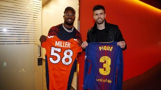 Denver Broncos' Von Miller headlines NFL player visit for Barça vs Atlético Madrid