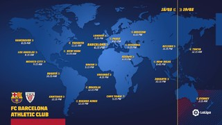 Panduan stasiun TV dunia dan jam tayang seluruh dunia untuk laga La Liga pekan ke-29, dan satu kesemptana bagi blaugrana untuk mempertahankan laga tanpa kekalahan dalam kompetisi domestik