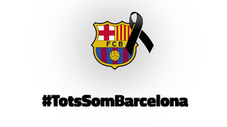 FC Barcelona expresses its solidarity with the victims of the terrorist attack which has struck at the heart of our city, la Rambla de Barcelona