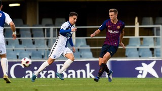 Barça B – CD Ebro: Hard-fought draw at the Miniestadi (1-1)