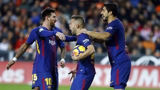 Valencia 1 - FC Barcelona 1 (1 minuto)