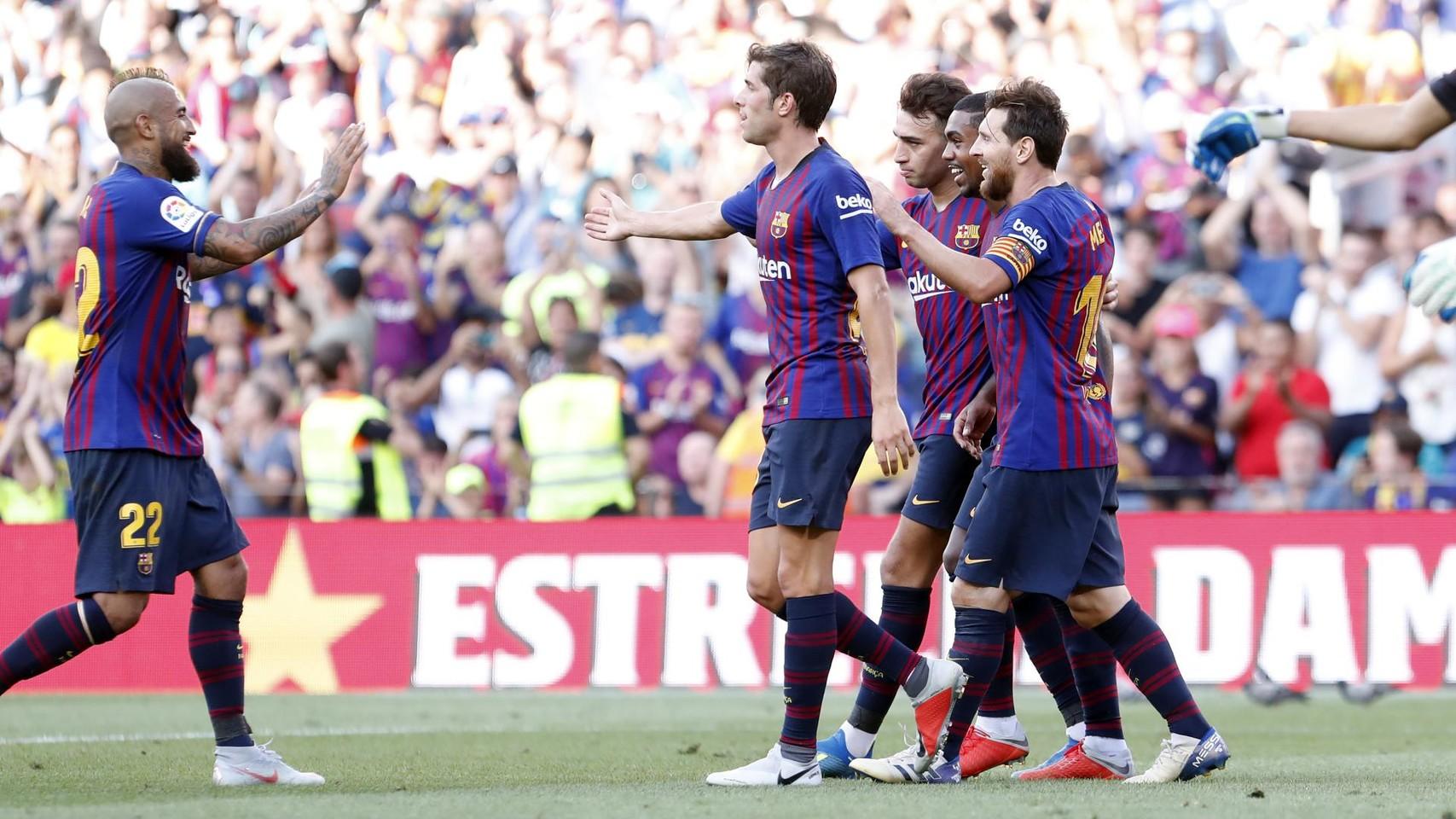 صور مباراة : برشلونة - بوكا جونيورز ( 16-08-2018 )  95974539