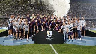Sarabia'nın golüne Pique ve Dembele'nin şahane vuruşuyla Endülüs ekibine karşılık veren Barça, Ter Stegen'in son dakikada Ben Yedder'in penaltısını kurtarmasıyla 13. kez İspanya Süper Kupası'nın sahibi oldu