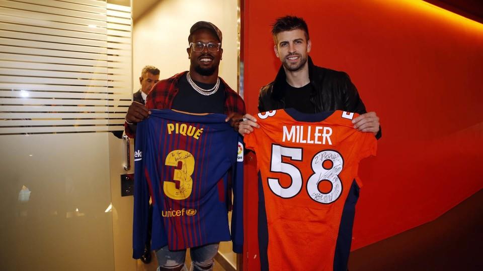 Denver Broncos Von Miller Headlines Nfl Player Visit For