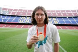 10 anys de l'or olímpic de Lionel Messi