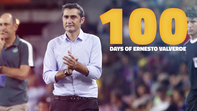 يصادف هذا الخميس، 19 أكتوبر، ذكرى 100 يوم على بدء عمل مدرب برشلونة الجديد، الذي أدار تدريبه الأول في 12 يوليو