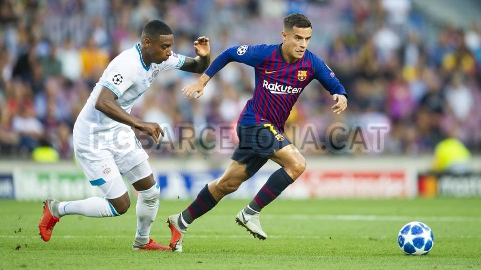 صور مباراة : برشلونة - PSV إندهوفن 4-0 ( 18-09-2018 )  98884236