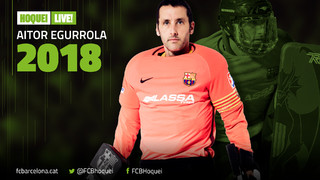 Aitor Egurrola seguirà una temporada més defensant la porteria del Barça Lassa