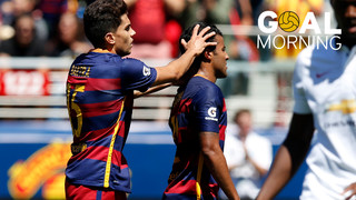 Goal Morning: Rafinha vs Manchester United #BarçaUSTour