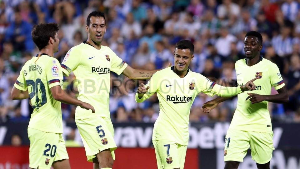 صور مباراة : ليغانيس - برشلونة 2-1 ( 26-09-2018 ) 99772815
