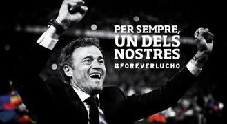 Reconeixement a Luis Enrique al Camp Nou