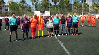 55 exjugadores del Barça participan en un nuevo evento deportivo de la Agrupación.