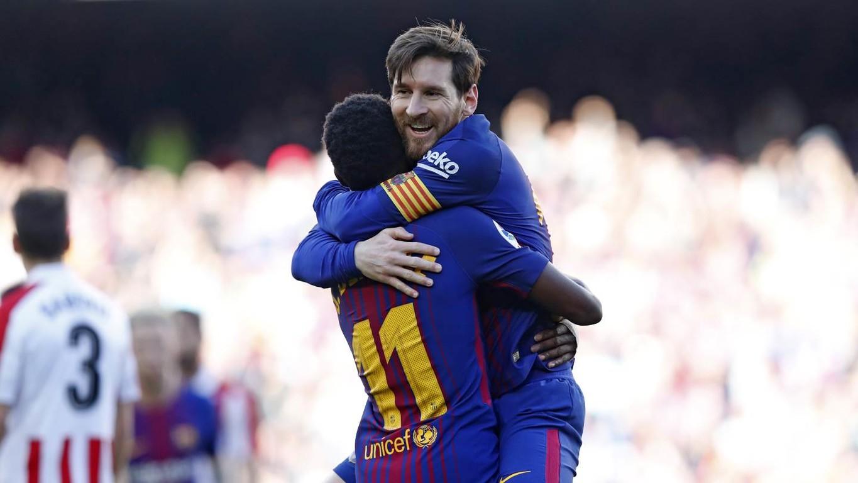Els de Valverde derroten els lleons al Camp Nou, amb gols d'Alcácer i Messi, i afrontaran l'aturada de seleccions després de sumar 36 jornades consecutives invictes